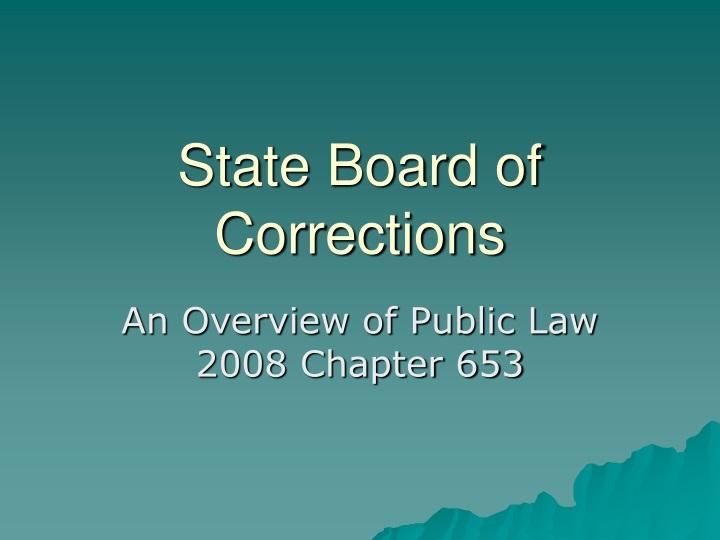 state board of corrections n.