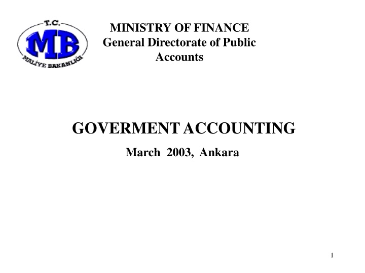 ministry of finance general directorate of public n.