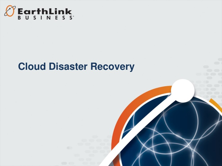 cloud disaster recovery n.