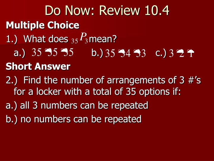 do now review 10 4 n.