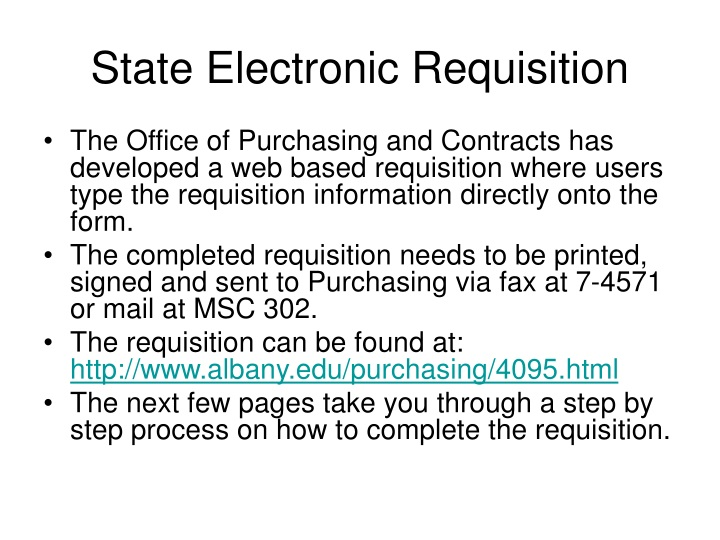 state electronic requisition n.