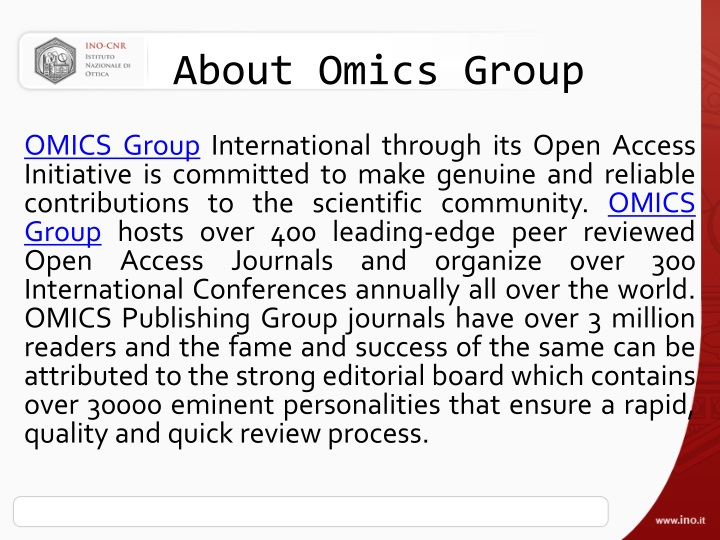 about omics group n.