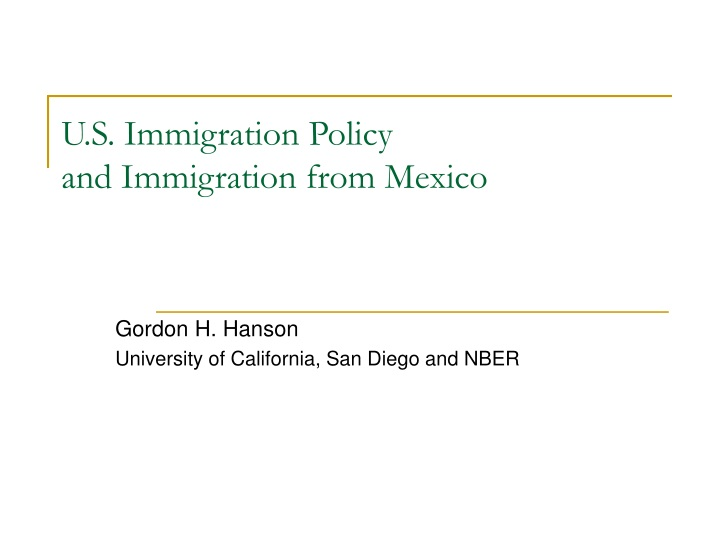u s immigration policy and immigration from mexico n.