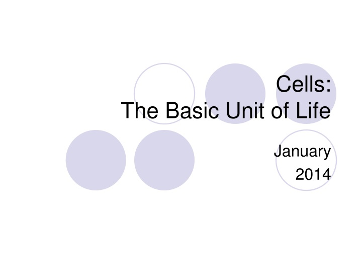 cells the basic unit of life n.