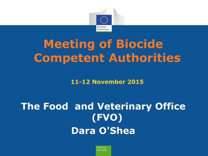 meeting of biocide competent authorities 11 12 november 2015 n.