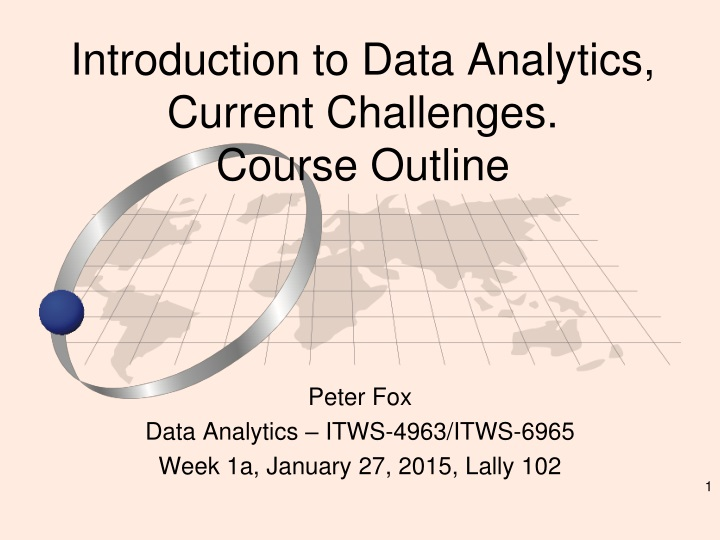 introduction to data analytics current challenges course outline n.
