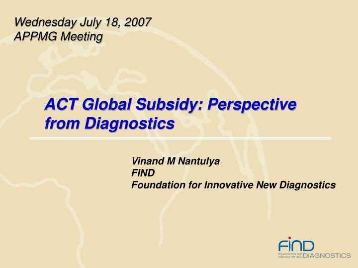 act global subsidy perspective from diagnostics n.