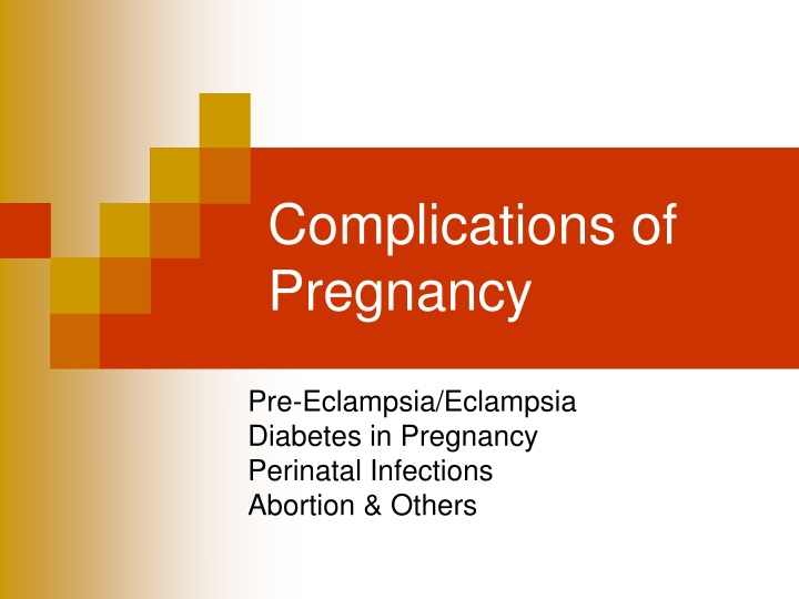 complications of pregnancy n.