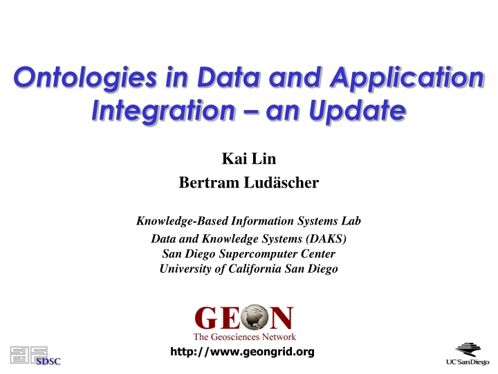 ontologies in data and application integration an update n.