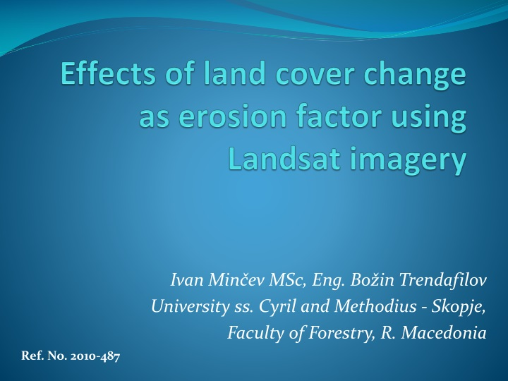 effects of land cover change as erosion factor using landsat imagery n.