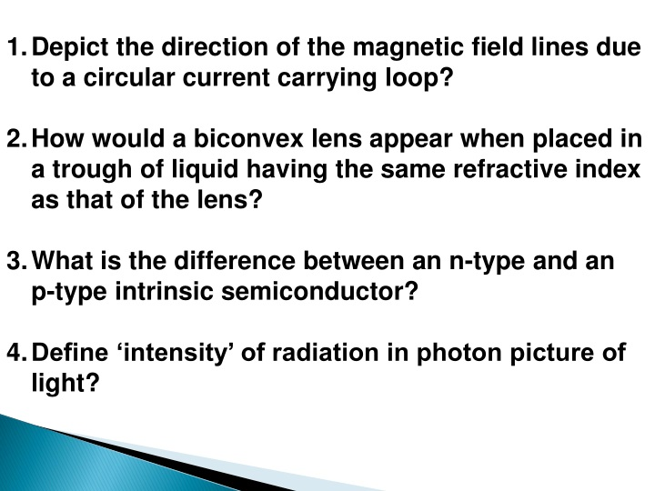 depict the direction of the magnetic field lines n.