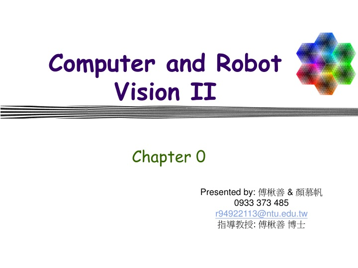 computer and robot vision ii n.