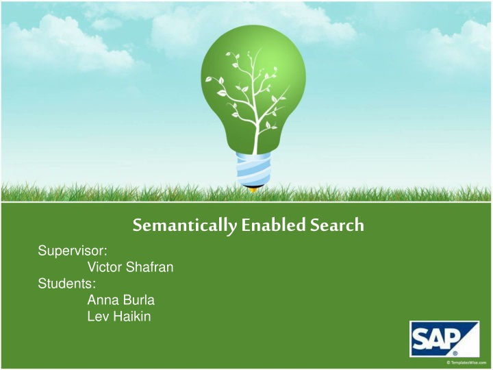 semantically enabled search supervisor victor n.