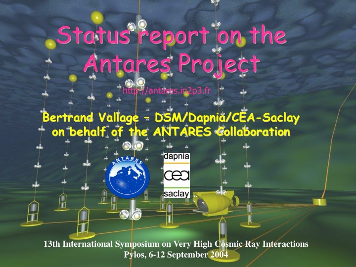 status report on the antares project n.