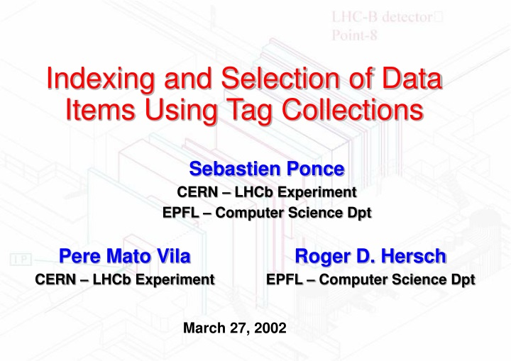 indexing and selection of data items using tag collections n.