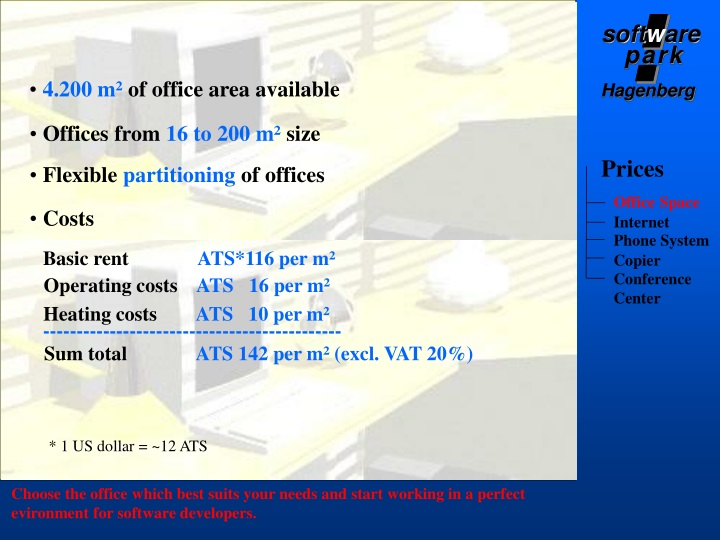 4 200 m of office area available n.