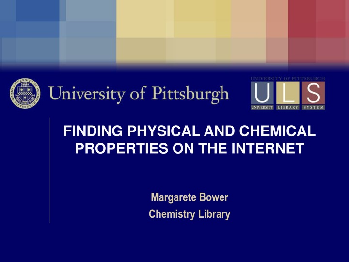 finding physical and chemical properties on the internet n.