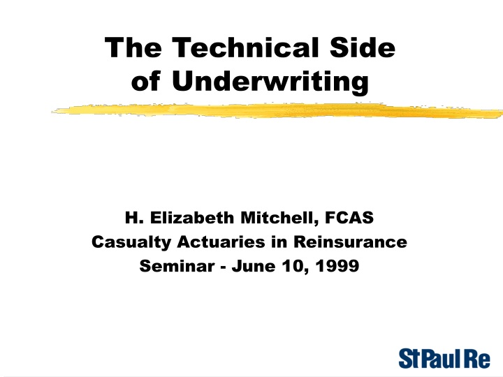 the technical side of underwriting n.