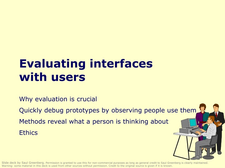 evaluating interfaces with users n.