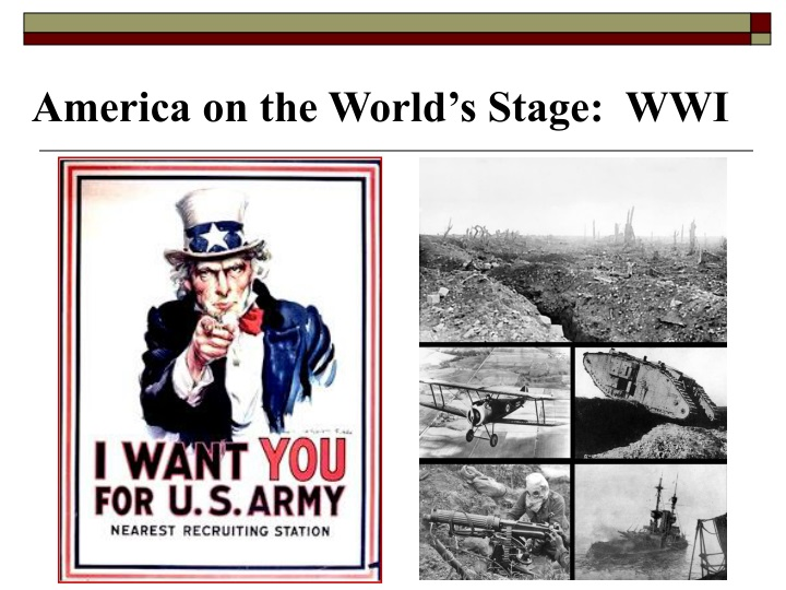 america on the world s stage wwi n.