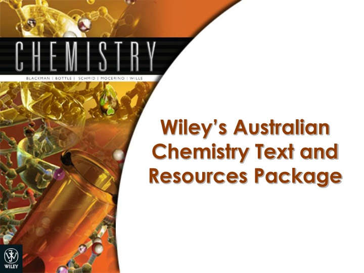 wiley s australian chemistry text and resources package n.