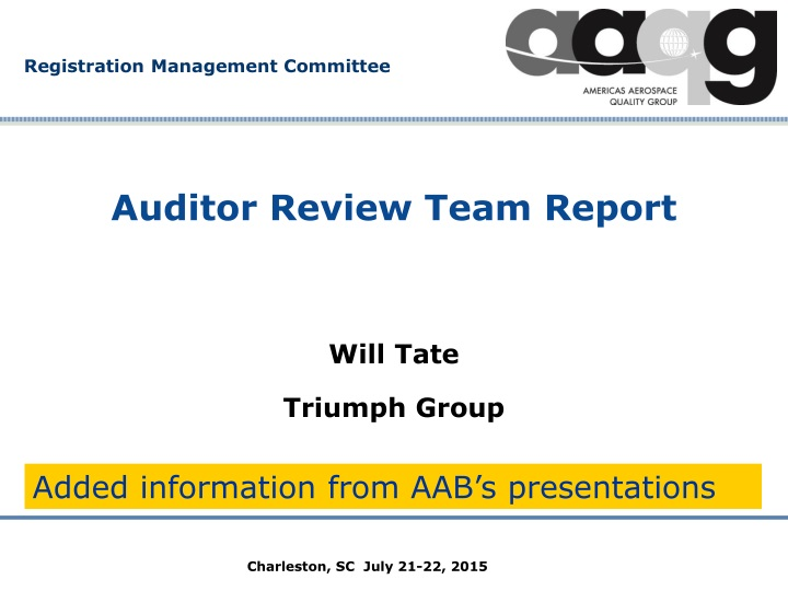 auditor review team report n.