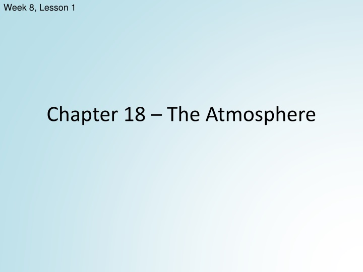 chapter 18 the atmosphere n.