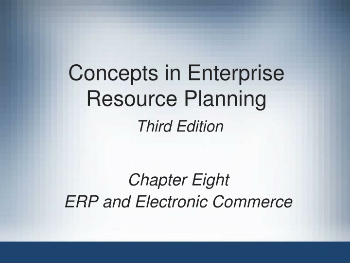 concepts in enterprise resource planning third edition n.