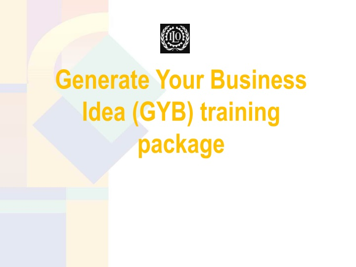 generate your business idea gyb training package n.