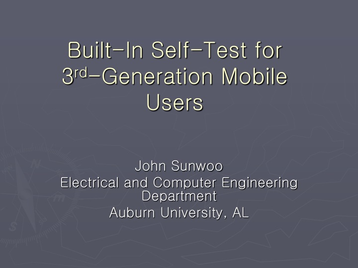 built in self test for 3 rd generation mobile users n.
