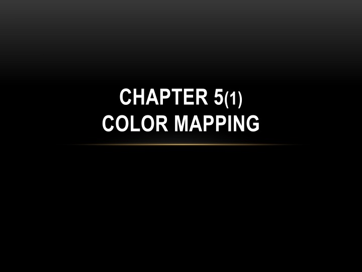 chapter 5 1 color mapping n.