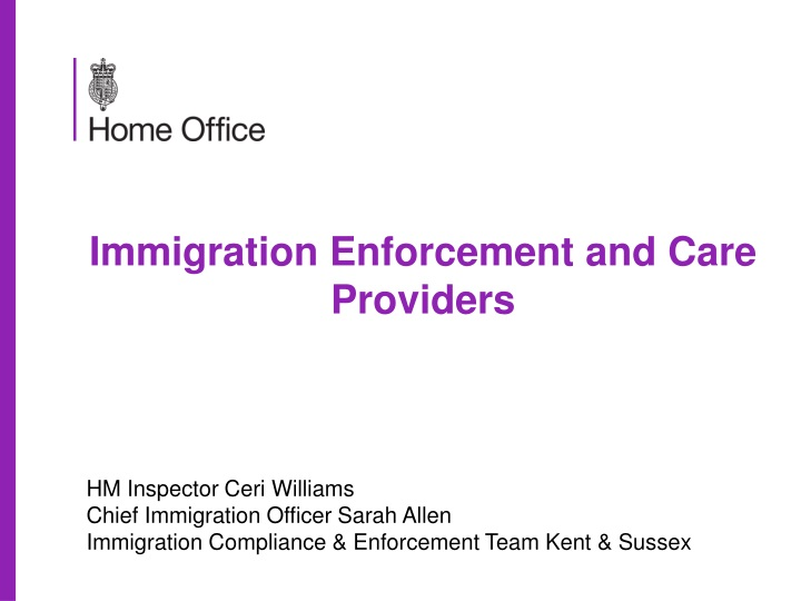 immigration enforcement and care providers n.