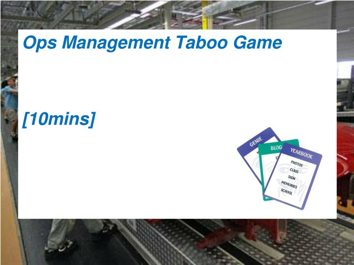 ops management taboo game 10mins n.