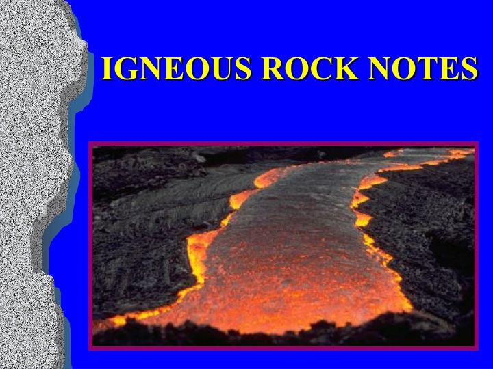 igneous rock notes n.