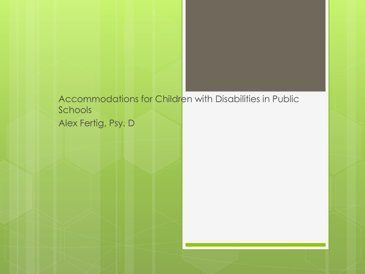 accommodations for children with disabilities in public schools alex fertig psy d n.