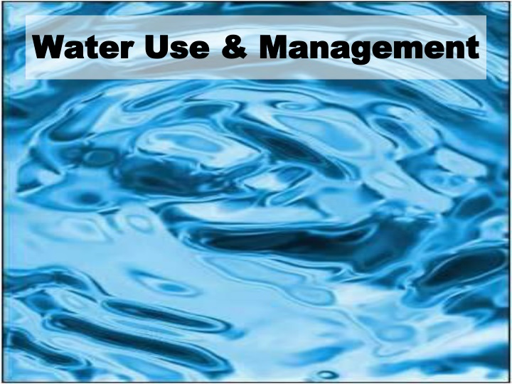 water use management n.