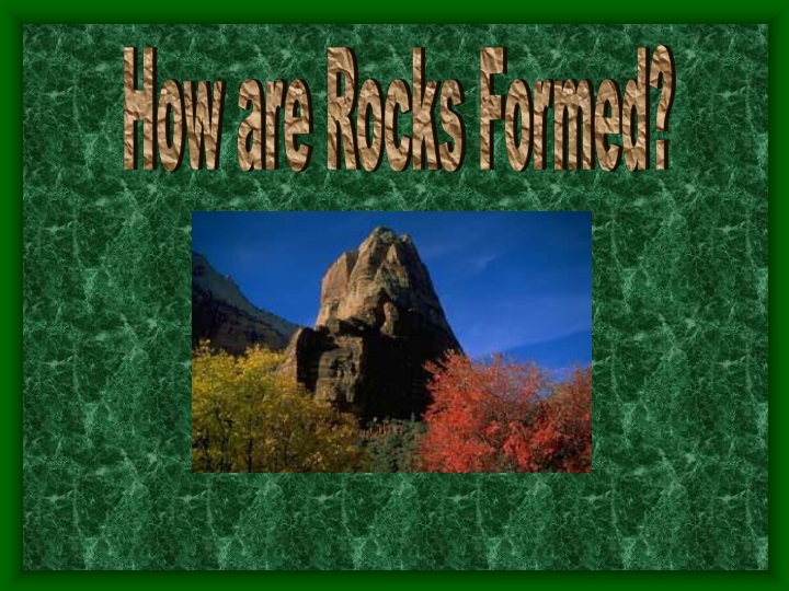 how are rocks formed n.