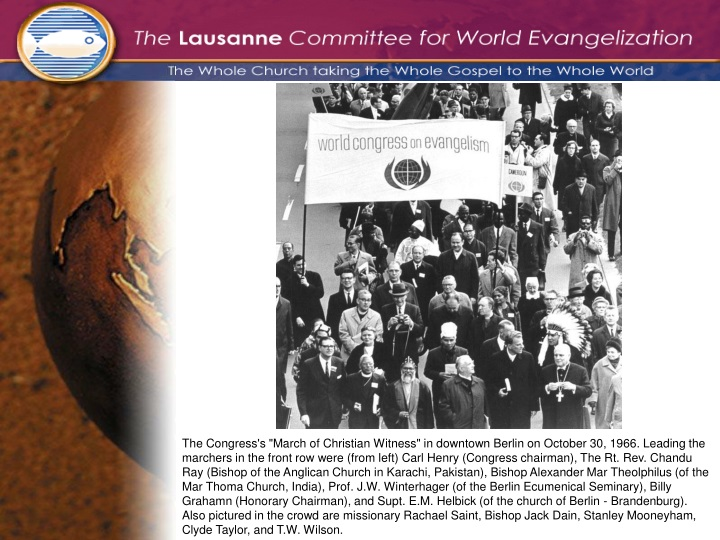 the congress s march of christian witness n.