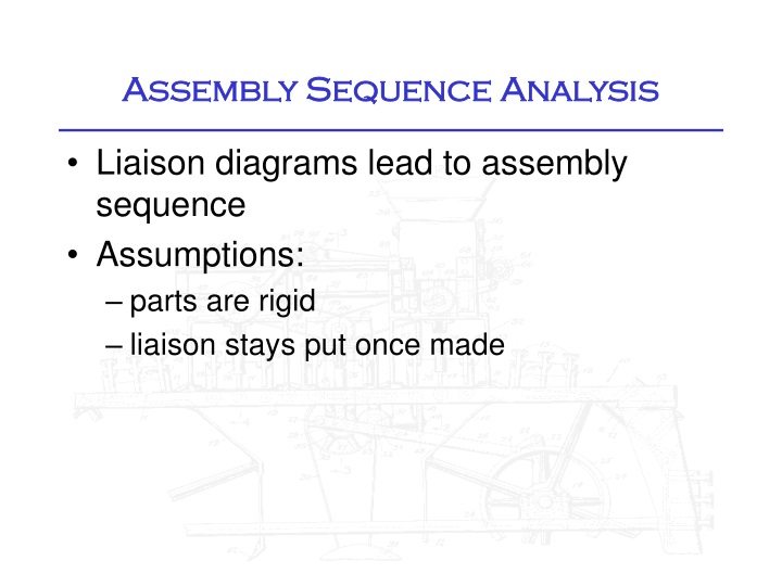 assembly sequence analysis n.