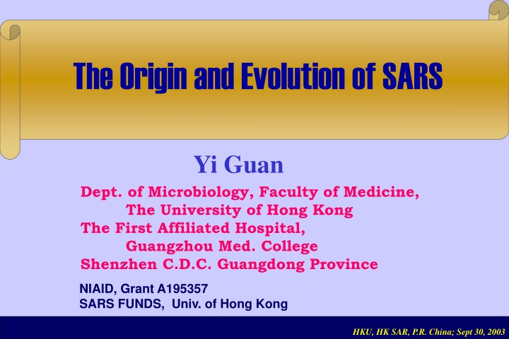 the origin and evolution of sars n.