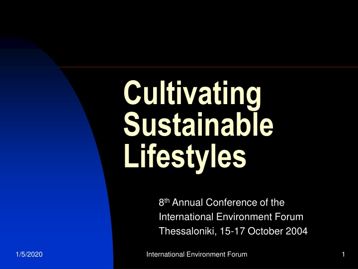 cultivating sustainable lifestyles n.