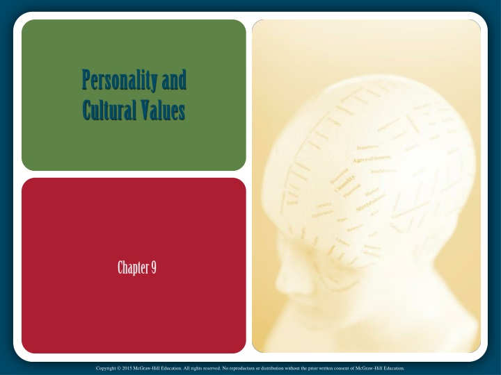 personality and cultural values n.