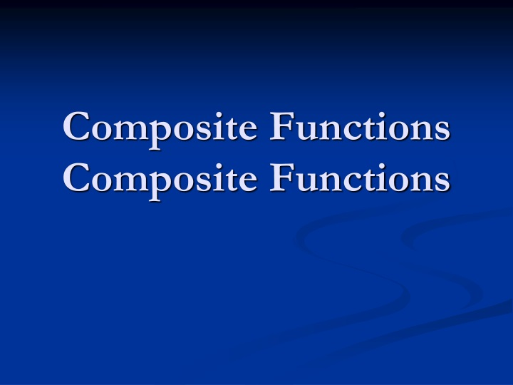 composite functions composite functions n.