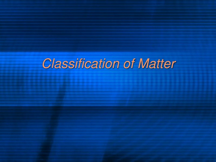 classification of matter n.