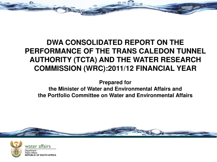 dwa consolidated report on the performance n.