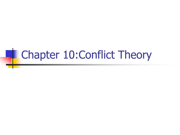 chapter 10 conflict theory n.