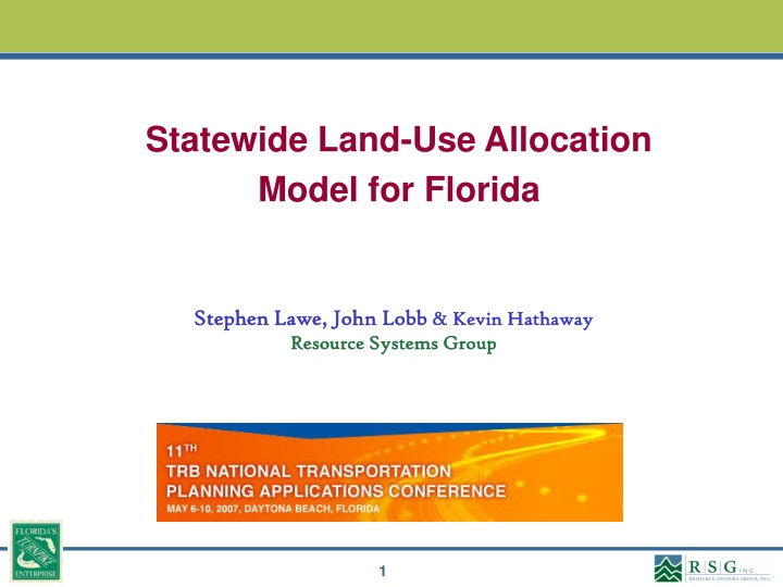 statewide land use allocation model for florida n.