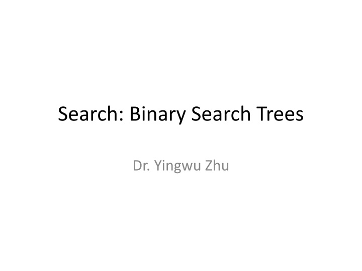 search binary search trees n.