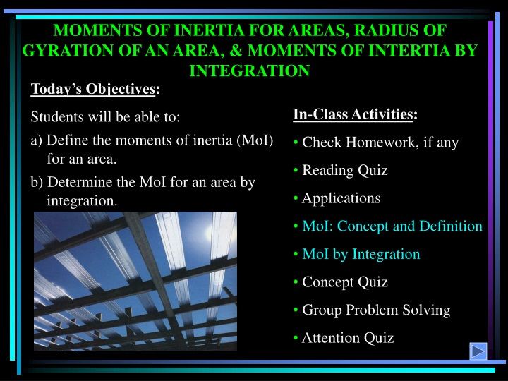 moments of inertia for areas radius of gyration n.