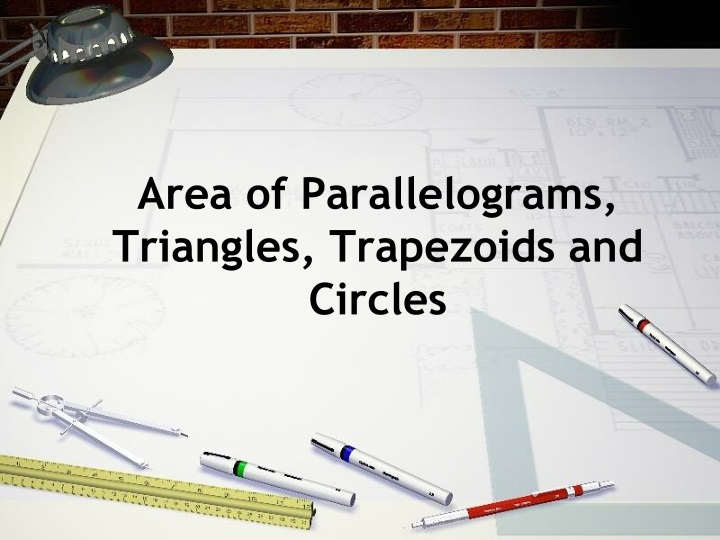 area of parallelograms triangles trapezoids and circles n.